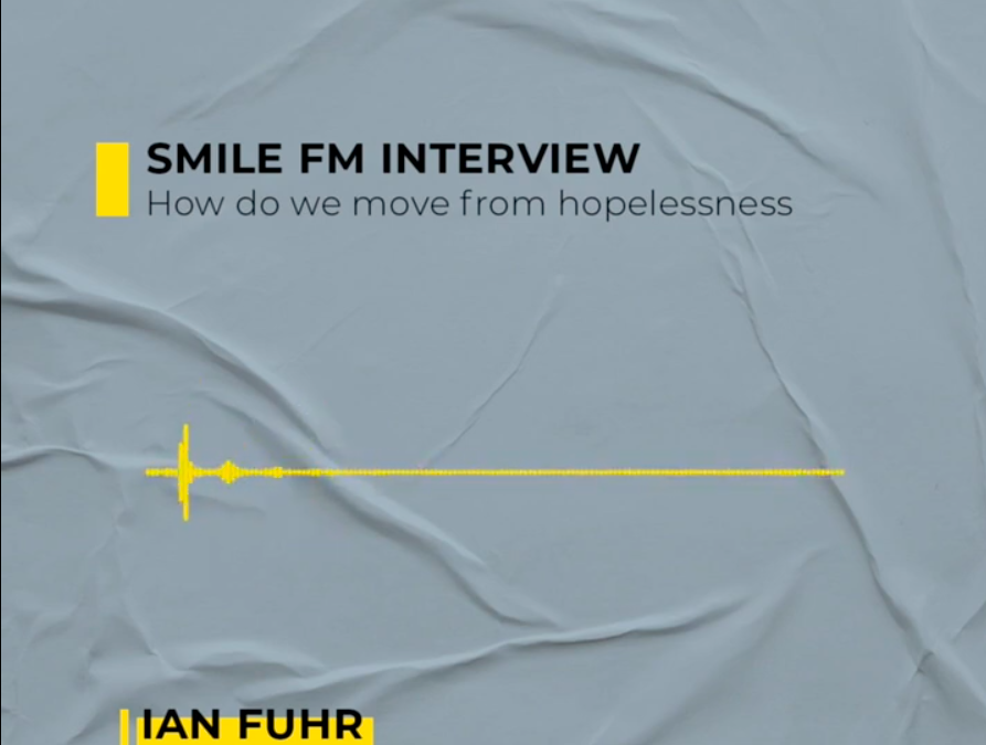 "Smile FM Interview with Ian Fuhr – How do we move from hopelessness ""Why are we still a nation at war with ourselves?"" We haven't made much progress since 1994. It's time to have the uncomofrtable conversations."