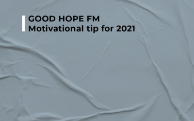 "GOOD HOPE FM – Motivational tip for 2021 ""Hold the vision, trust the process."" – Unknown  Join Ian Fuhr as he discusses motivational tips for 2021 on Good Hope FM"
