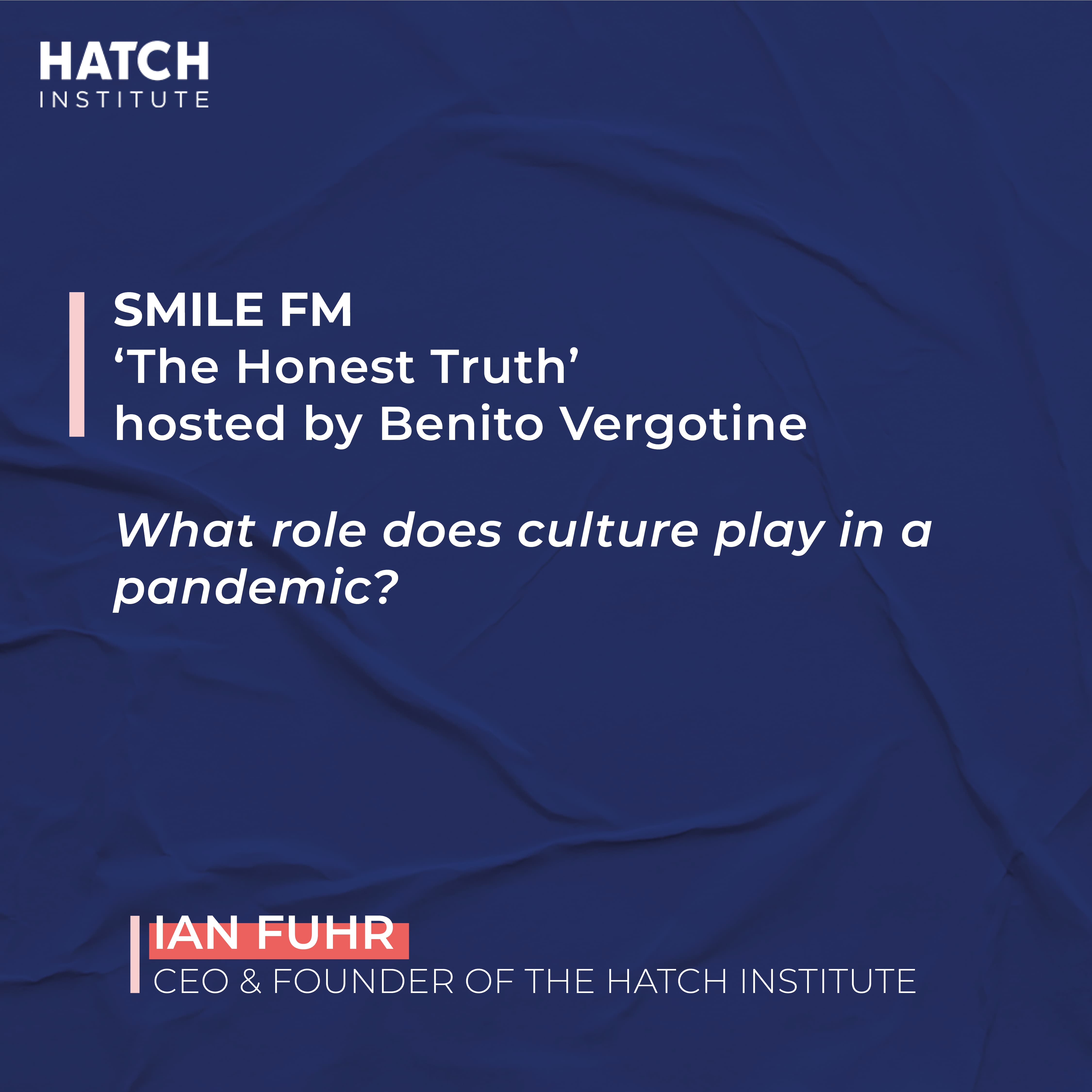 SmileFM – The Honest Truth hosted by Benito Vergotine Interview with Ian Fuhr